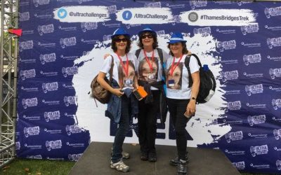 Barbara Anne and Annette take on Thames Bridge Walk 2017